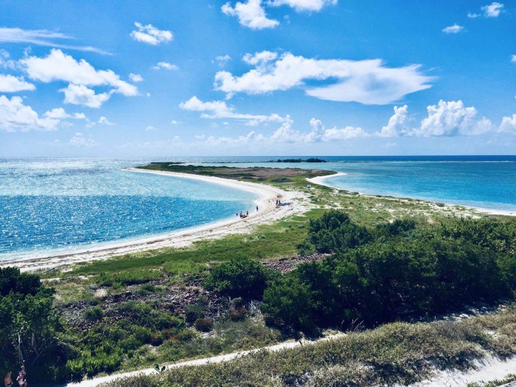 Beautiful beach landscapes of the Dry Tortuga's national park in Key west FL.